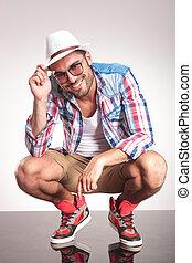 Fashion man smiling at the camera