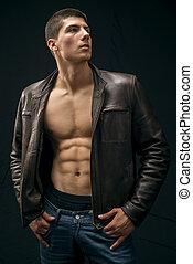 Fashion man - Young athlete male fashion model