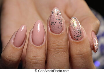 fashion manicure of nails