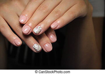 fashion manicure with a design