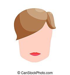 Fashion mens hairstyle icon, cartoon style