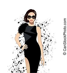 Fashion model Fashion illustration vector