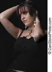 Fashion model - Holding hair