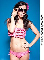 Fashion Model In Bikini