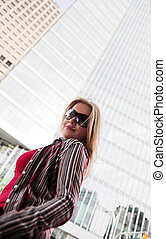 fashion model in city