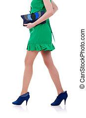 fashion model' legs walking