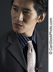 Fashion Model - An asian fashion model in smart casual...