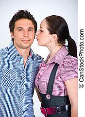 Fashion models couple