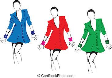 Fashion models.