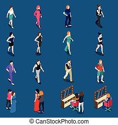 Fashion Models Isometric Set