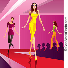 Fashion models on review - Fashion models representing a new...