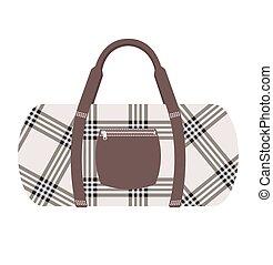 Fashion modern travel bag vector illustration
