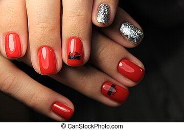 Fashion nails design manicure, best color of 2018
