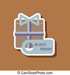 fashion patch, sale sticker gift box Black Friday