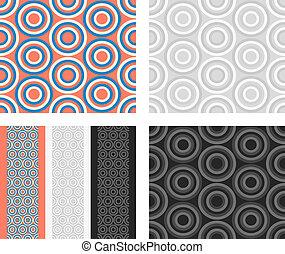 Fashion pattern with circles