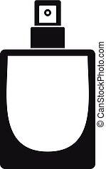 Fashion perfume icon, simple style