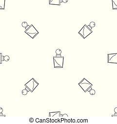 Fashion perfume pattern seamless vector