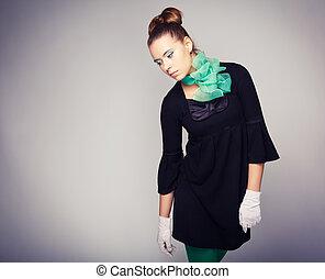 fashion photo of a beautiful girl