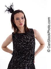 Fashion photo of beautiful lady