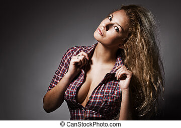 Fashion photo of young sensual woman