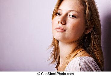 Fashion photo of young sensual woman
