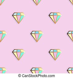 Cute pins seamless pattern  vector hand drawn background