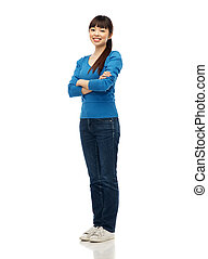 happy smiling young asian woman