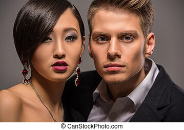 Fashion portrait of a couple