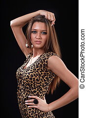 Fashion portrait of a young attractive woman