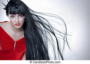 Fashion portrait of attractive woman