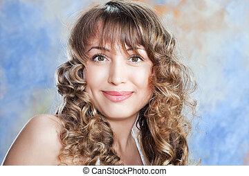 fashion portrait of beautiful blond girl