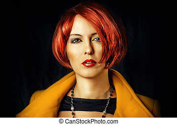 Fashion portrait of beauty young woman