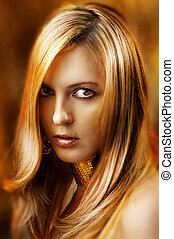 Fashion portrait of sexy glamour woman