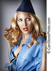 Fashion portrait of sexy woman