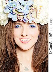 Fashion Portrait of Smiling Woman