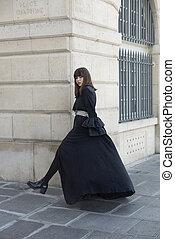Fashion portrait of young beautiful teen girl.