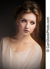 Fashion portrait of young girl