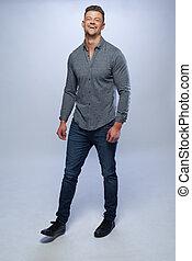 Fashion portrait of young man i
