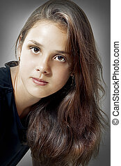 Fashion portrait of young model