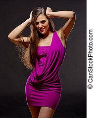 Fashion portrait of young woman - Fashion style portrait of...
