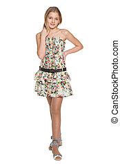 Fashion preteen girl