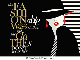 Fashion quote with fashion woman.