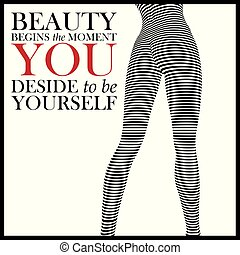 Fashion quote with legs of fashion woman.