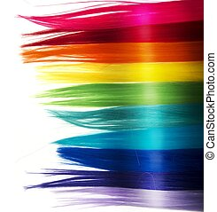 Fashion rainbow hair background