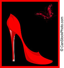 Fashion red woman shoes