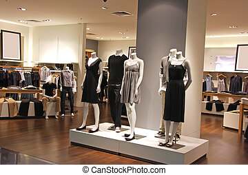 Fashion retail - Fashion clothing retail display clothes for...