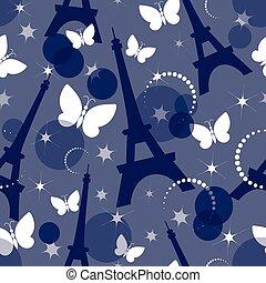 Fashion seamless background on blue