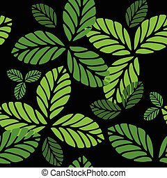 Fashion seamless pattern with greenery leaves