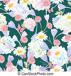 fashion seamless texture with floral design