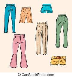 Fashion set.  Graphic style